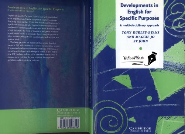 دانلود کتاب انگلیسی برای اهداف ویژه Developments in English for Specific Purposes