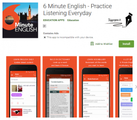 اپلیکیشن SIX Minute English